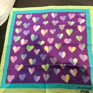 Heart Print Silk Scarf